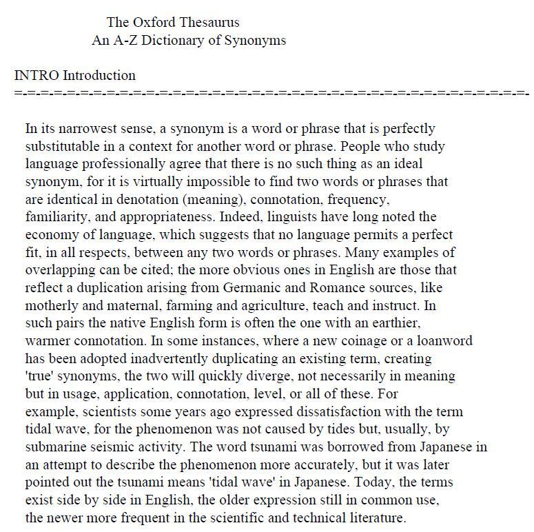 欧陆牛津同义词词典