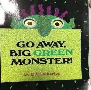 走开绿色的大怪兽英语绘本