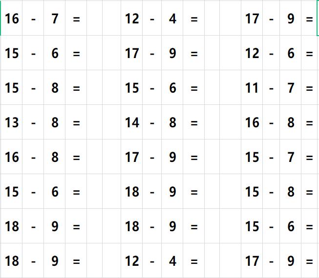 幼儿数学题10以内的加减法