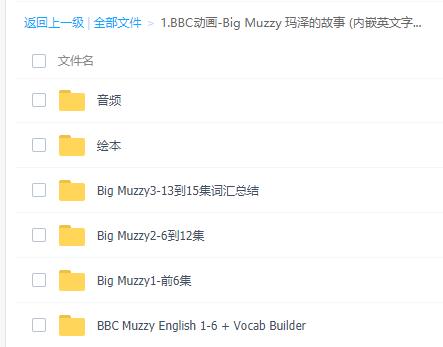 muzzy动画片视频1集